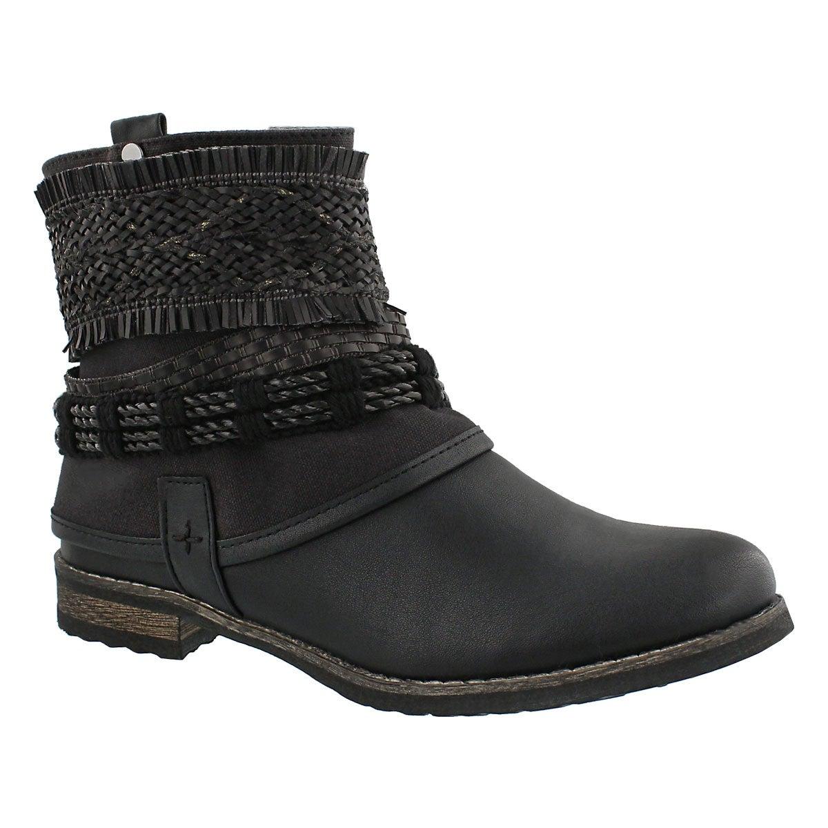 Women's BIZOU 2 black casual ankle boots