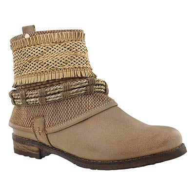Lds Bizou 2 brown casual ankle boot