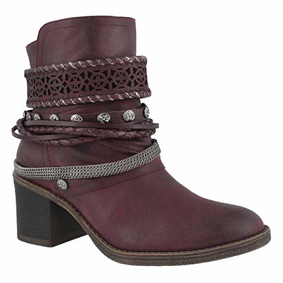 Lds Bizou 4 wine casual ankle boot