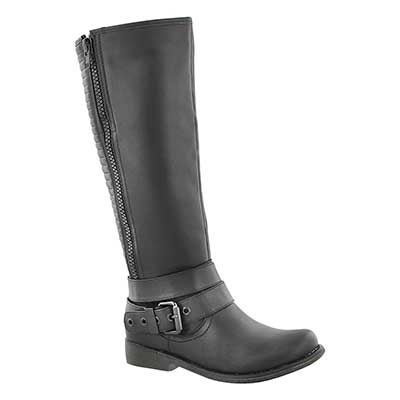 SoftMoc Women's BLAKELEY black riding boots