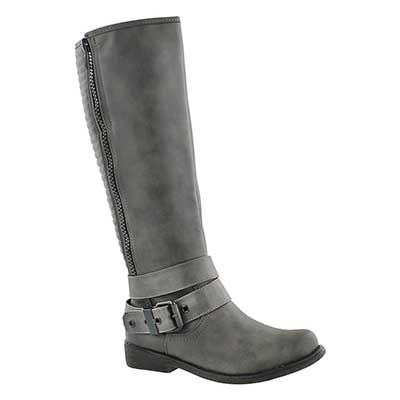 SoftMoc Women's BLAKELEY grey riding boots