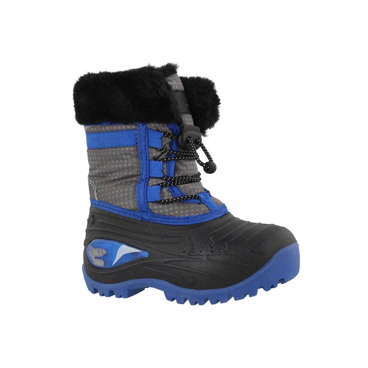 Infants' BLAZE blue wtpr light up winter boots
