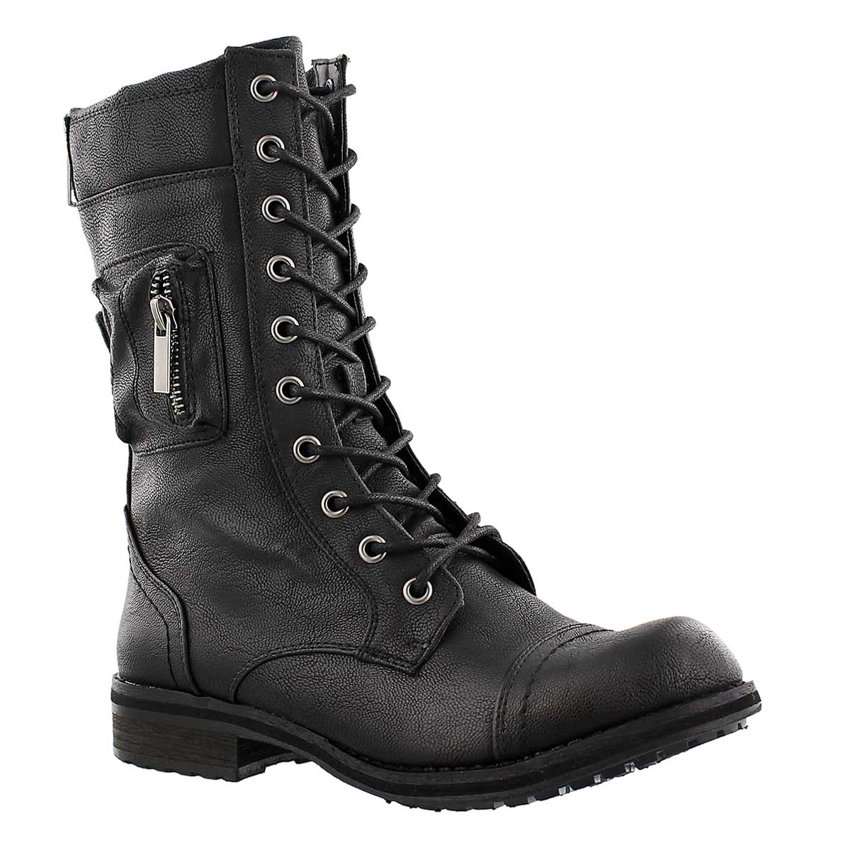 Lds Bliss II black lace up combat boot
