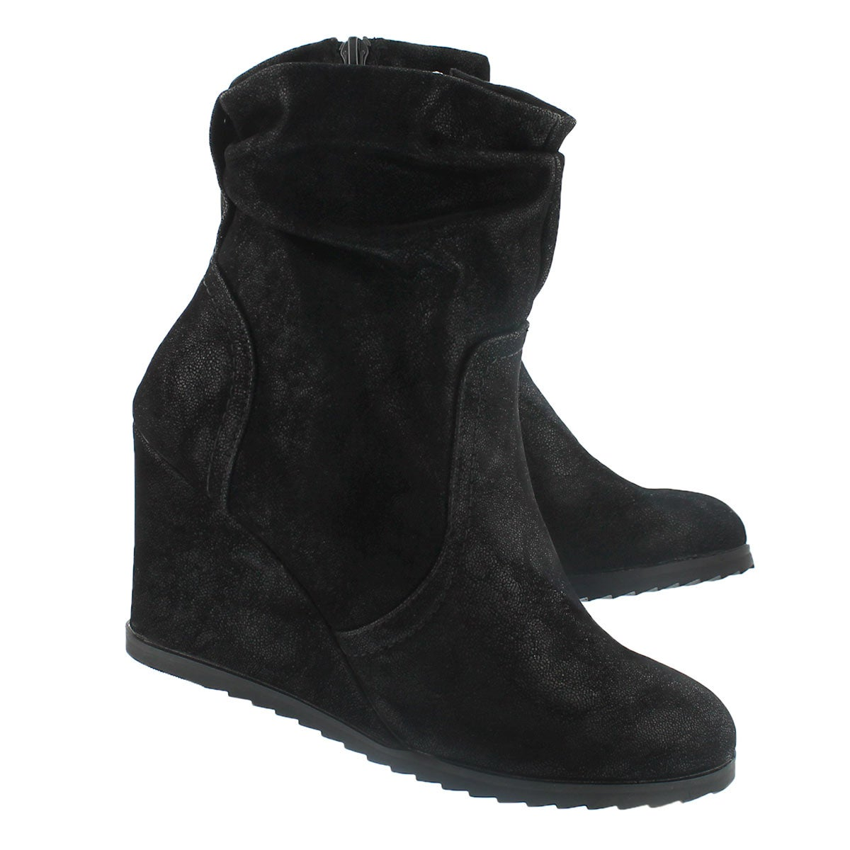 Lds Blondie Lo blk wedge ankle boot
