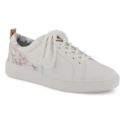 Lds Bloom white blossom fashion sneaker