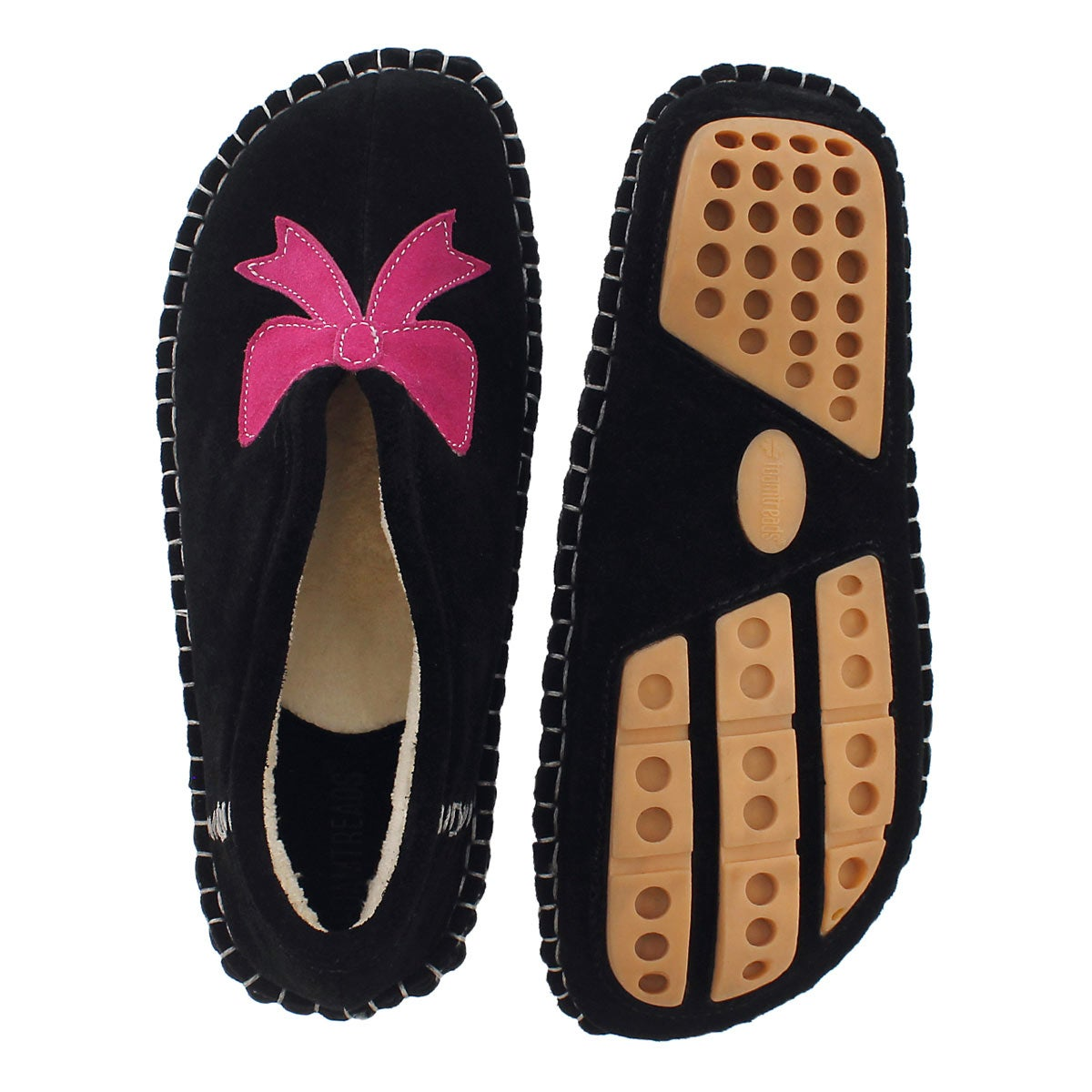 Lds Blossom black closed back slipper