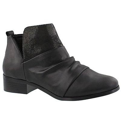 Lds Blume black slip on ankle boot