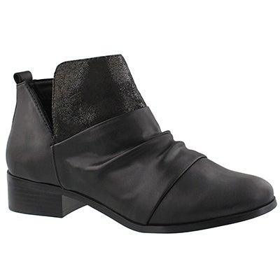 Lds Blume black slip on ankle boot