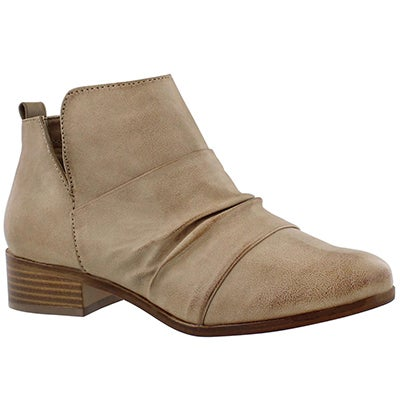 SoftMoc Women's BLUME brown slip on ankle boots