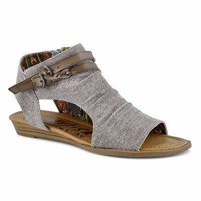 Lds Blumoon grey casual sandal
