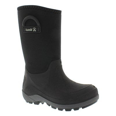 Kamik Boys' BLUSTER black pull on winter boots