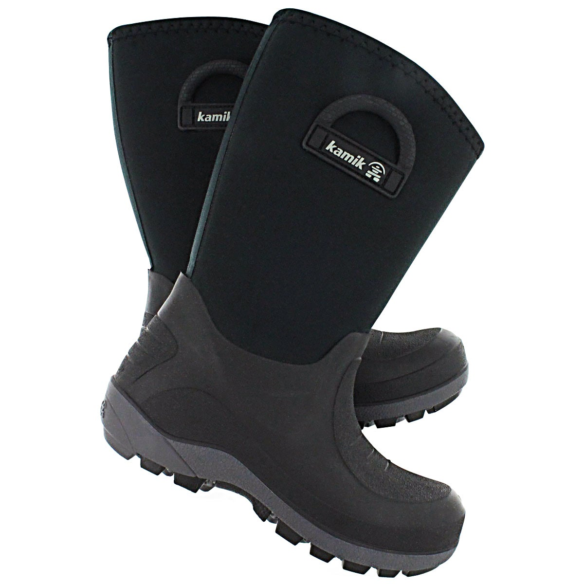 Bys Bluster blk pull on winter boot