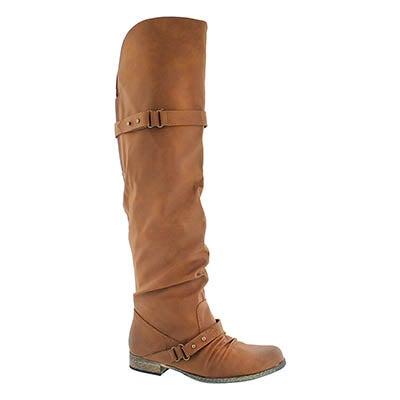 Lds Bobbi 2 tan tall riding boot