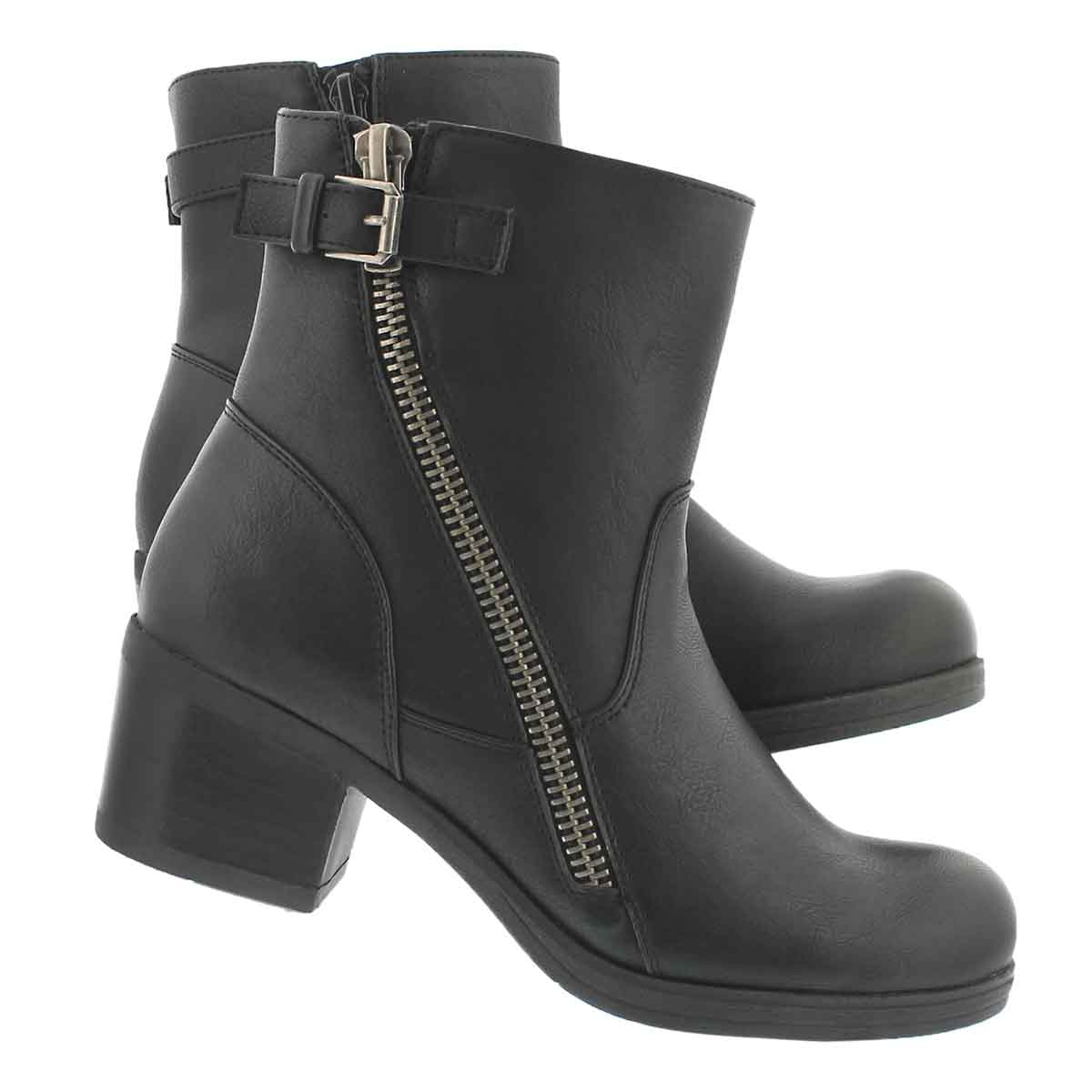 Lds Bobbi Jean blk casual ankle boot