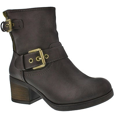 SoftMoc Women's BOBBI JO dark taupe casual booties
