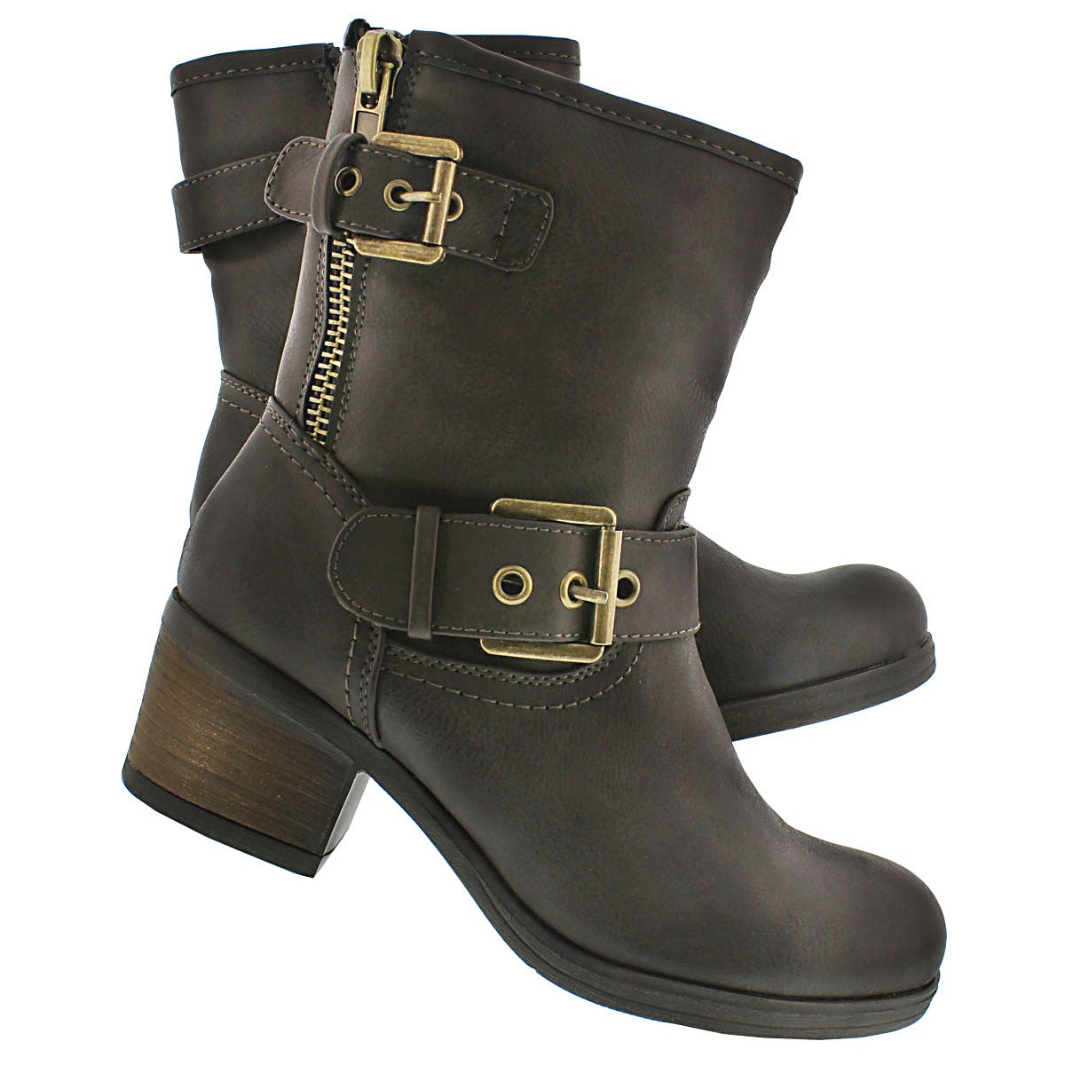 Lds Bobbi Jo dk taupe casual bootie