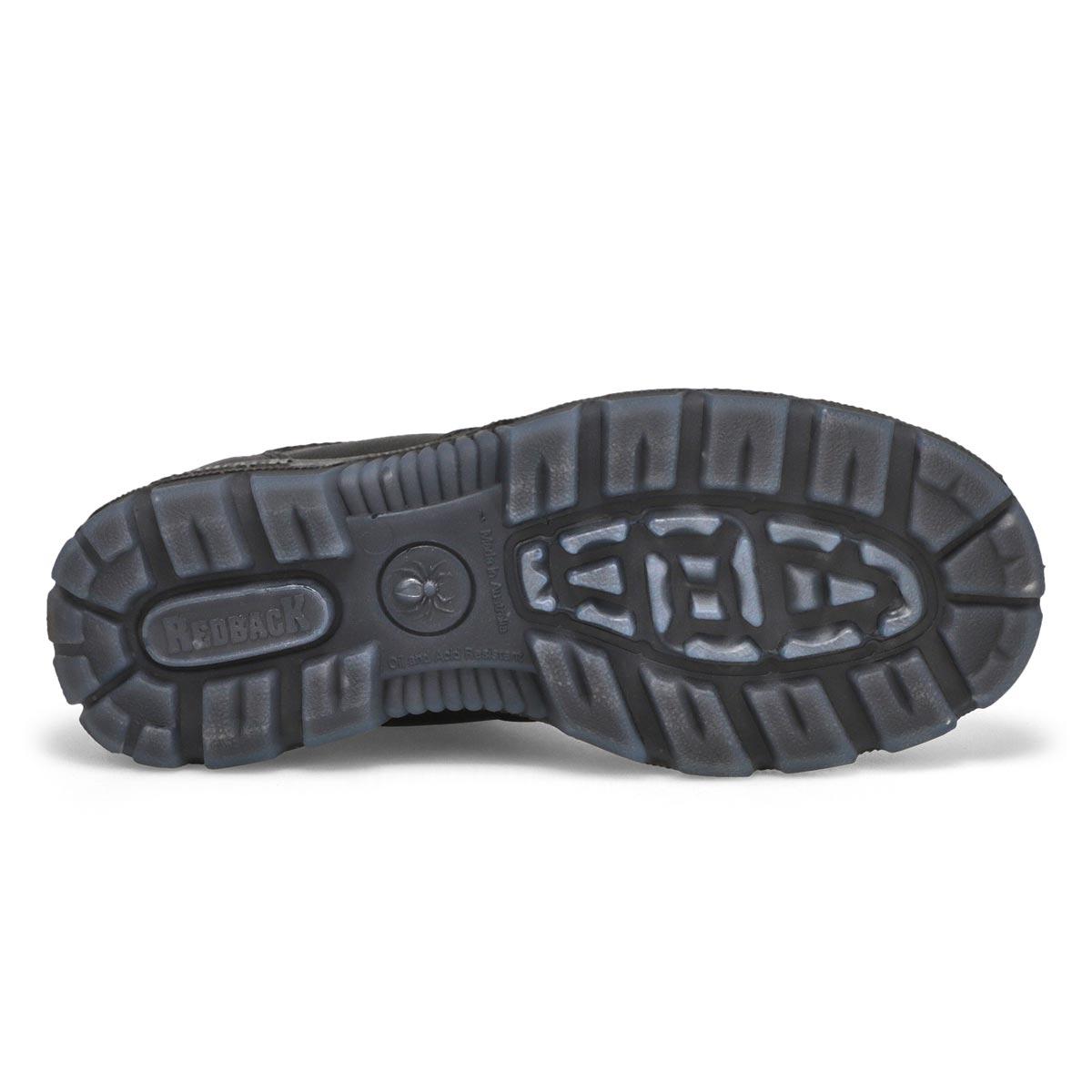 Unisex Bobcat black leather pull on boot