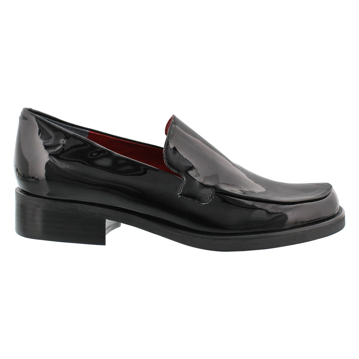Lds Bocca blk patent slip on loafer