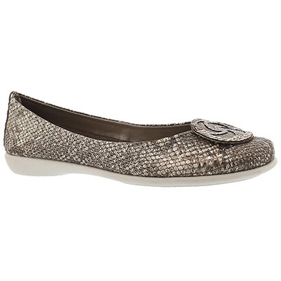 The Flexx Women's BON BON bronze python/beige dress flats
