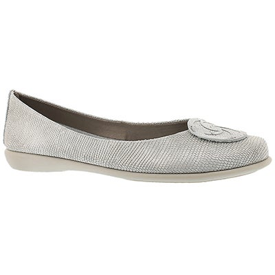 The Flexx Women's BON BON white/silver dress flats