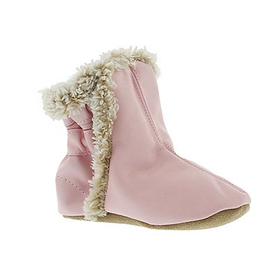 Inf Booties pink soft soles