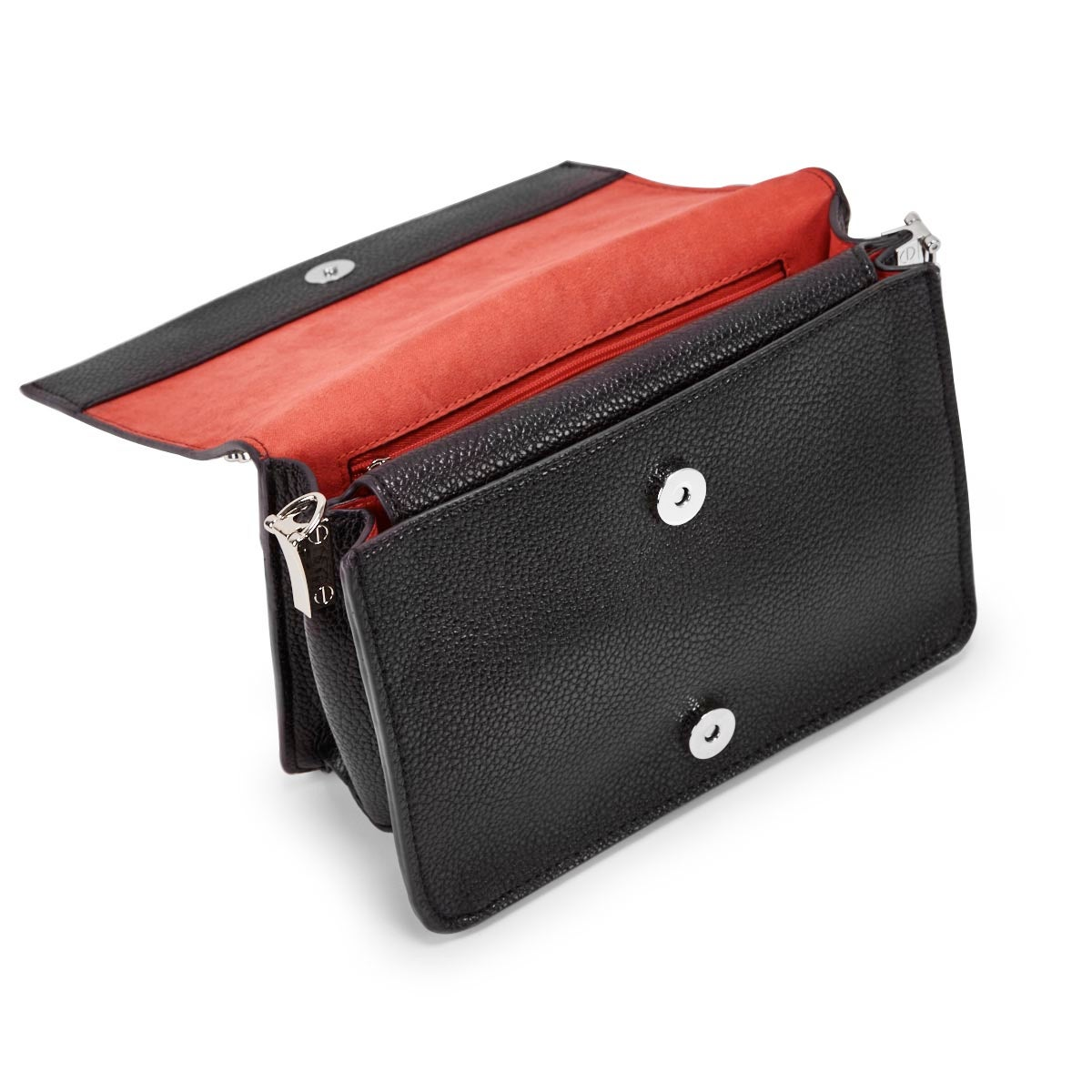 Lds BPosh blk crossbody bag