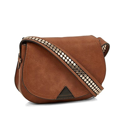 Lds BPotter cognac cross body bag