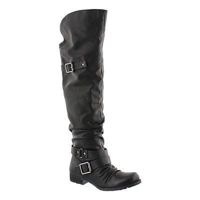 SoftMoc Women's BRAELYNN black over the knee boots