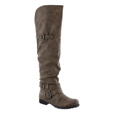 SoftMoc Women's BRAELYNN grey over the knee boots