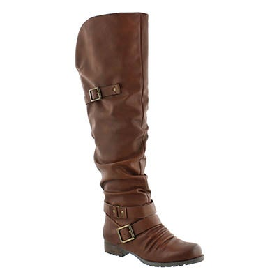SoftMoc Women's BRAELYNN rust over the knee boots