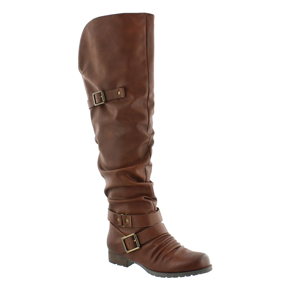 Women's BRAELYNN rust over the knee boots