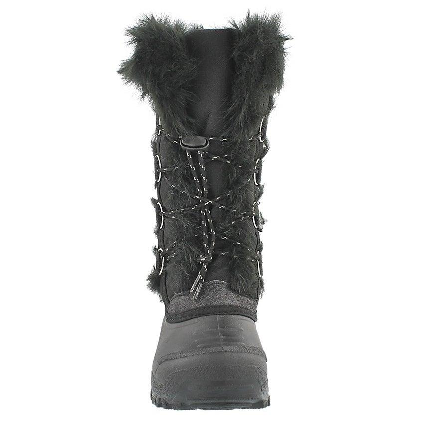 Grls Brandi blk lace up wtrpf boot