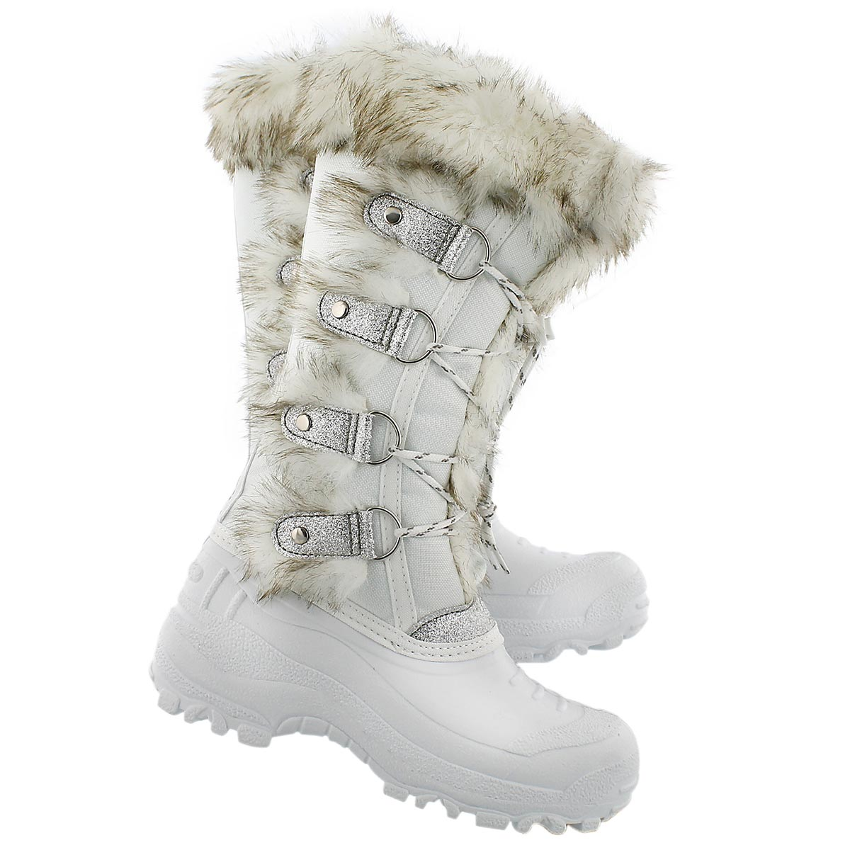 Grls Brandi wht lace up wtrpf boot