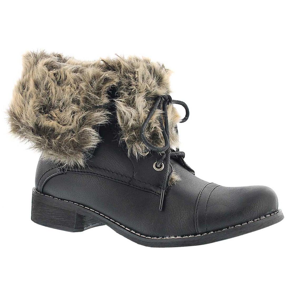 Lds Brandi 2 black lace up combat boot