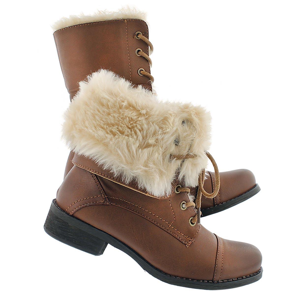 Lds Brandi 2 rust lace up combat boot