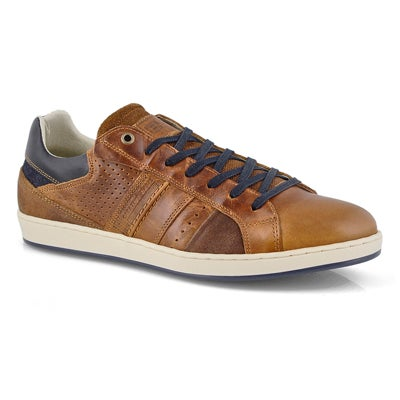 Mns Braxton cognac laceup casual sneaker