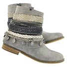Lds Breanne grey braided ankle boot