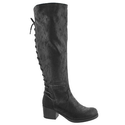 Lds Brette black knee high dress boot
