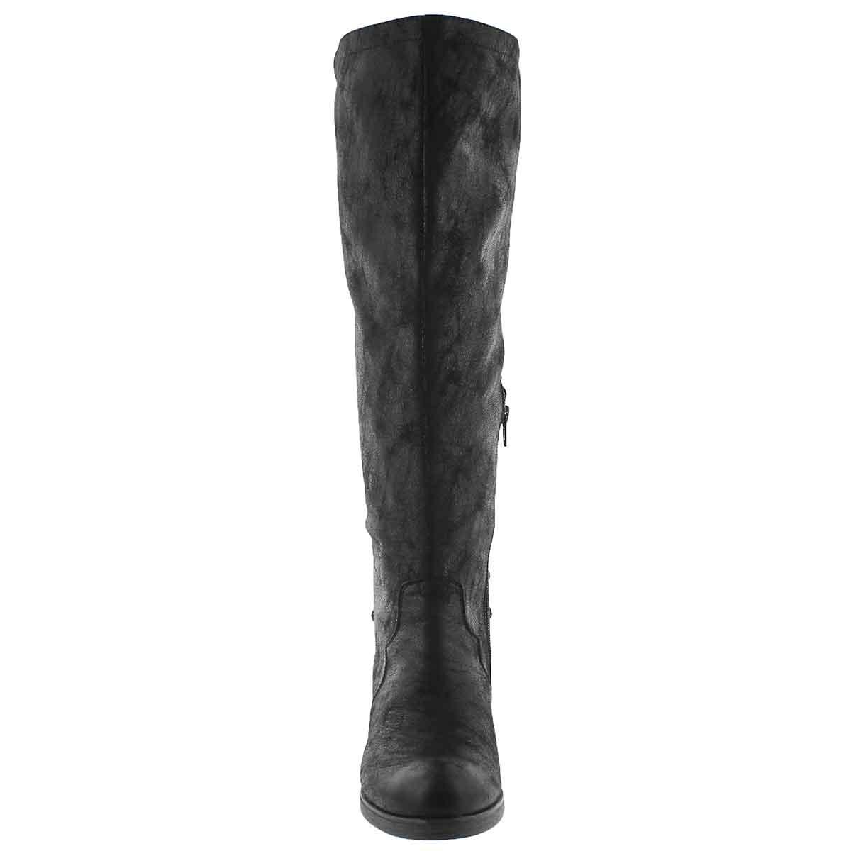 Lds Brette black knee high dress boot