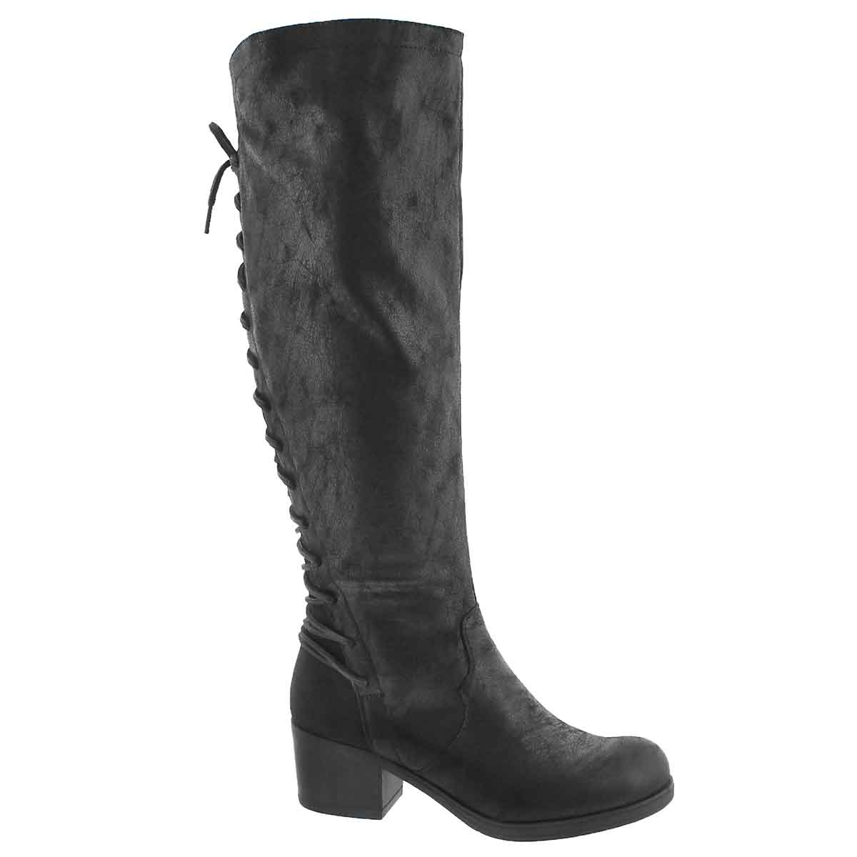 Women's BRETTE black knee high dress boots
