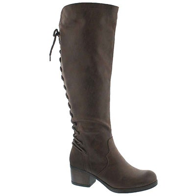 Lds Brette brown knee high dress boot