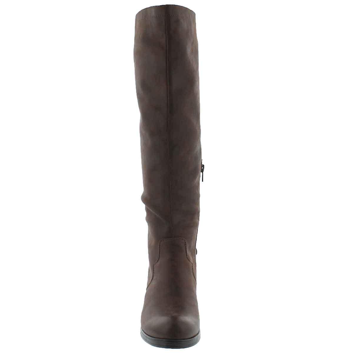 Lds Brette brown knee high dress boot