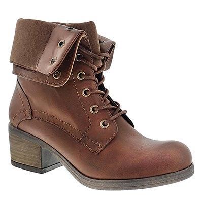 SoftMoc Women's BRIA tan fold down combat boots
