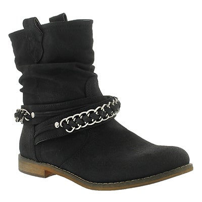 Lds Bridget blk mid slouch boot