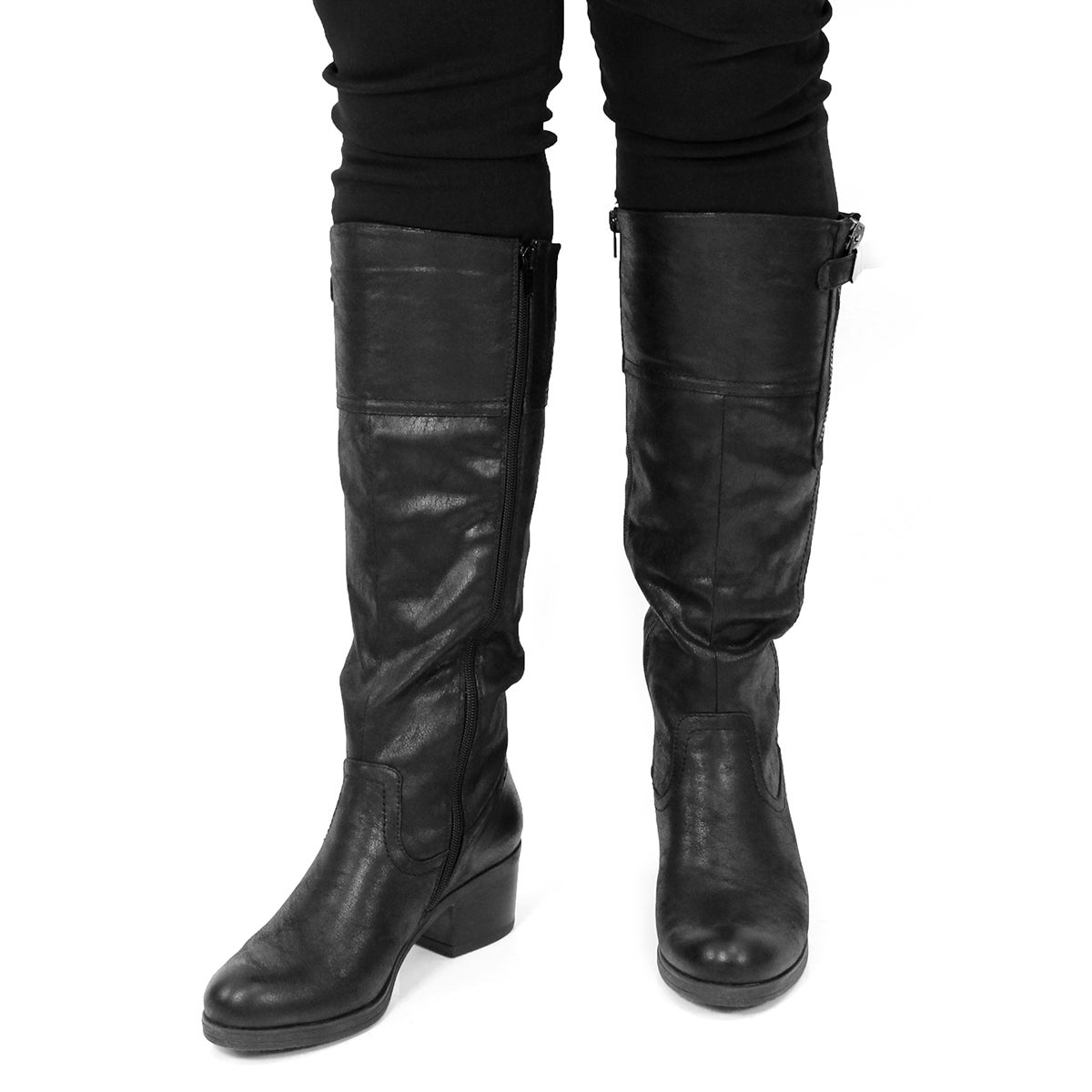 Lds Briella black knee high casual boot