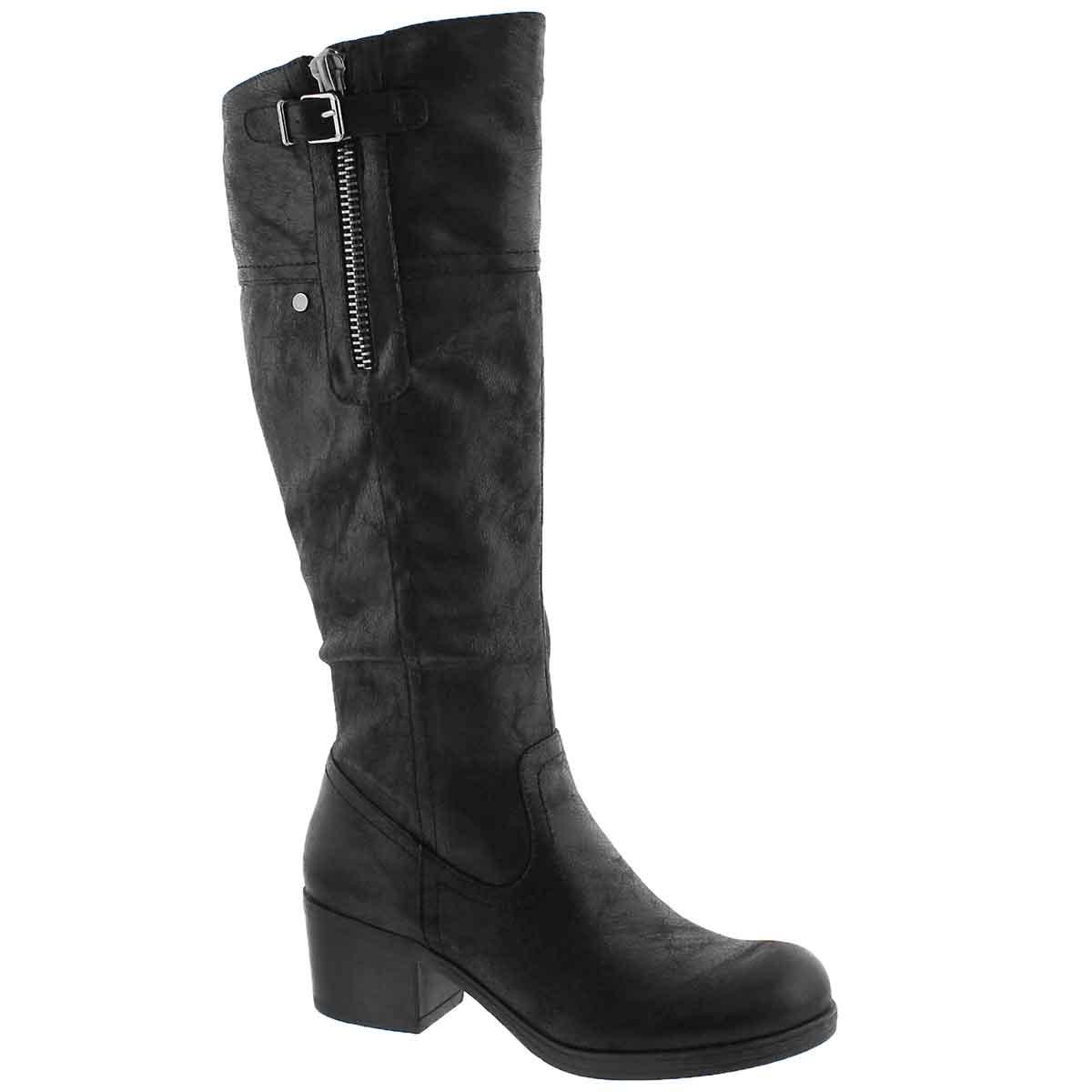 Women's BRIELLA black knee high casual boots