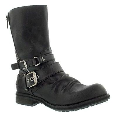 SoftMoc Women's BRIETTA II black mid buckle boots