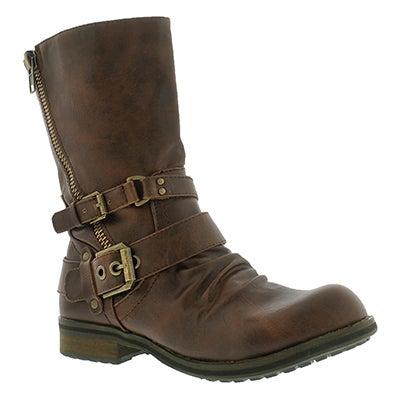 SoftMoc Women's BRIETTA  II cognac mid buckle boots