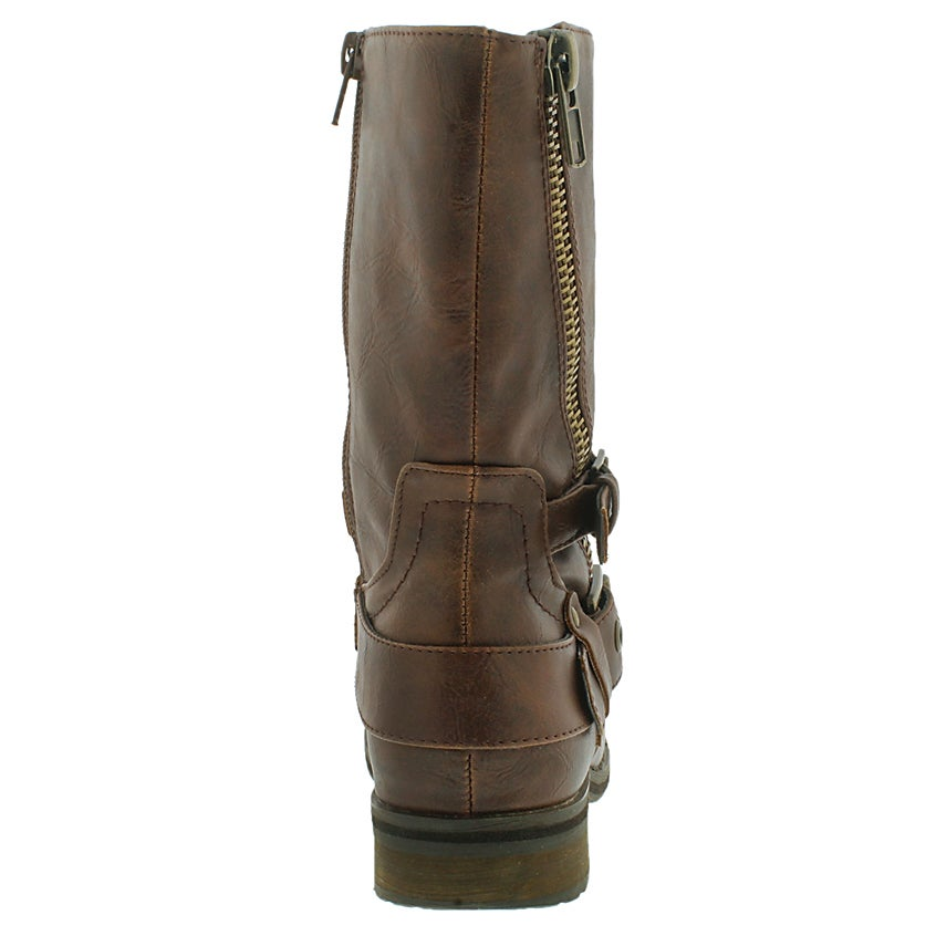 Lds Brietta II cognac mid buckle boot