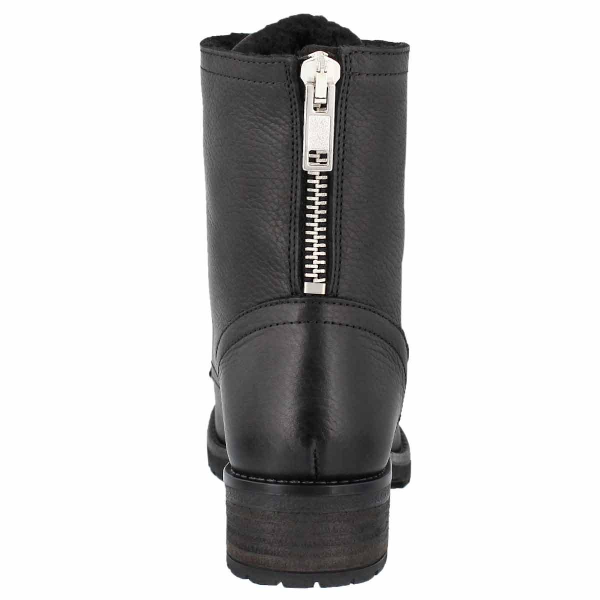 Lds Brionna black lace up combat boot
